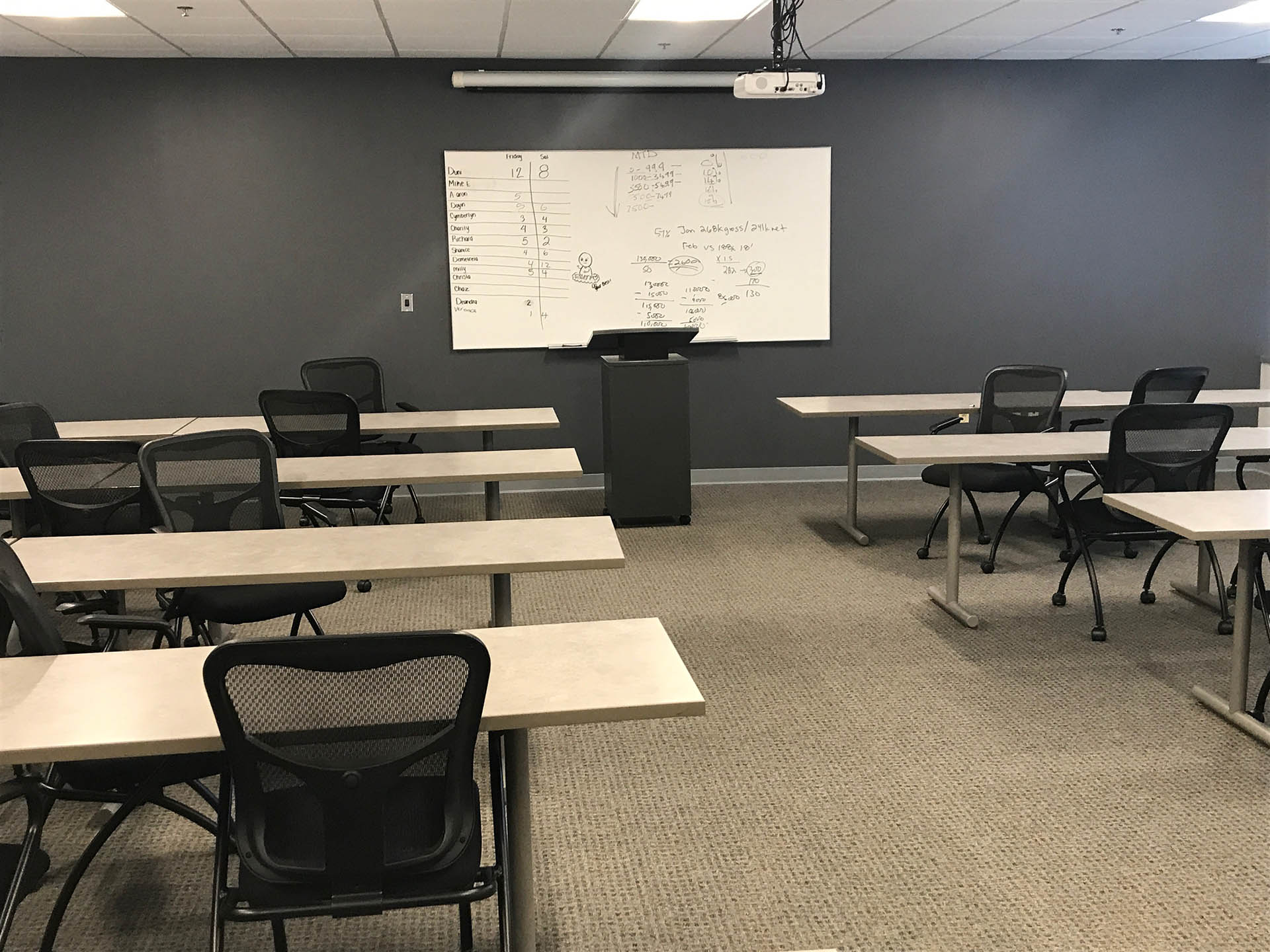 Large Empty Conference Room for Rent